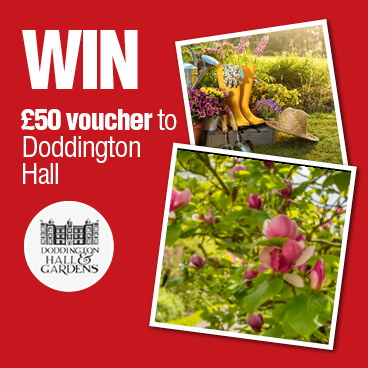 Special Summer draw £50 Doddington Hall Voucher